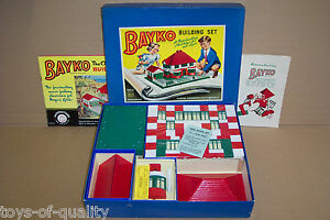 original vintage 1953 bayko building set 1