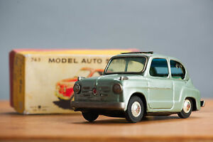 antique tin toy rare bandai boxed fiat 600
