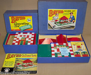 original vintage 1953 bayko building sets no