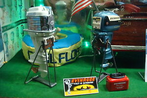 6 new vintage looking steel toy outboard