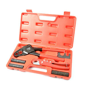 Iwiss Pex Pipe Plumbing Crimping Tool for Copper Crimp Jaw Sets 12