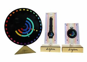 RARE MOVADO WATCH SET DESIGNED BY YAACOV AGAM RAINBOW SERIES LIMITED EDITION