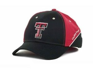 Texas Tech Red Raiders NCAA Under Armour TTU BLACKRED Stretch Fitted Cap Hat