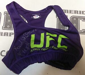 Rowdy Bec Rawlings Signed Personally Worn Used TUF 20 UFC Sports Bra Top PSADNA