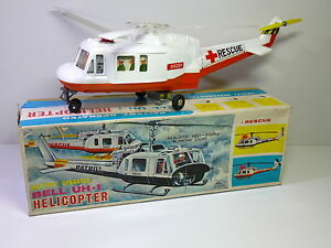 vintage b o bell uh 1 rescue helicopter in