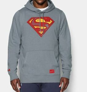 Limited Edition Under Armour Alter Ego Retro Superman DC Sweatshirt Hoodie NWT