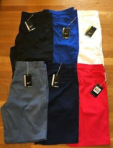 Nike golf shorts MENS dri fit flat front multiple szs Nwt