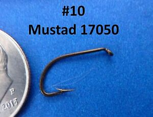 25 Mustad Fishing Hooks #10 17050 *Good Nymph Dry or Panfish Fly Fish Hook
