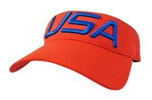 NEW Under Armour Olympics Team USA RedBlue Adjustable VisorHat
