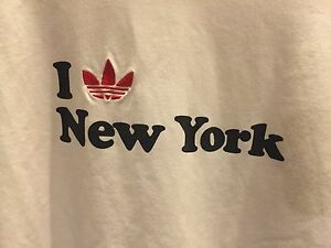ADIDAS DRY FIT I LOVE NEW YORK SLIM FIT T-Shirt Sz L