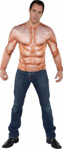 Morris Costumes Men's Photo Real Muscle Padded Shirt One Size. UR29708
