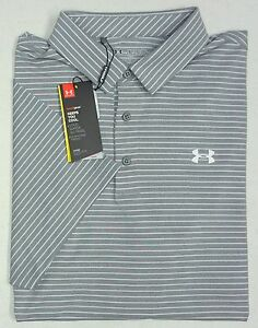NWT Under Armour UA Heat Gear UPF 30 SS Gray Shirt Men 2XL Loose Fit UA Logo NEW