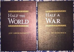 Joe Abercrombie Signed Lettered Subterranean Matching Half The World Half A War