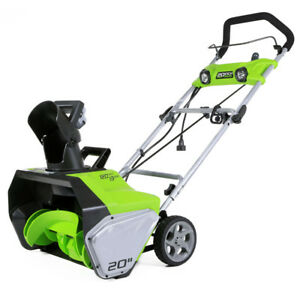 Greenworks 13 Amp 20 in. Electric Snow Blower 2600202 New