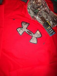 UNDER ARMOUR HUNT REAL TREE CAMO HOODIE SIZE 2XL MEN NWT $$$$
