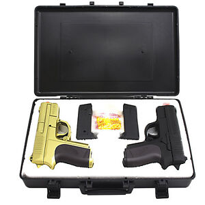 CYMA TWIN SPRING DUAL AIRSOFT PISTOL COMBO PACK SET Hand Gun w Case 6mm BB BBs $19.95