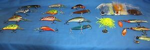 Lot of Fishing Lures-BucktalesJigs Grubs Floaterspinners and Crankbaits-OBO