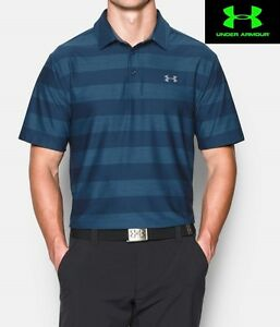 Under Armour Men's size Medium Loose Fit Playoff Golf Shirt in Blackout Navy NWT