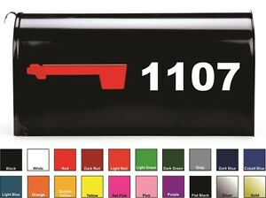 SET OF 2 Custom Mailbox Numbers Vinyl Decals / Stickers - Choose Size