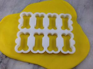 Doggy Biscuit 8x Cookie Cutter Outline CHOOSE YOUR OWN SIZE Octuple