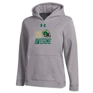 Youth Heather Gray Colorado State Rams Under Armour Hoodie