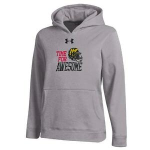 Youth Heather Gray University of Maryland Terps Under Armour Hoodie