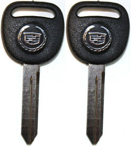 2 New Replacement Key Blanks With Cadillac Logo B102 Uncut Cadillac Key 15033286 $14.95