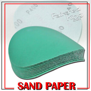 In LA-x10 Dry Green Auto Sanding Paper Collision Repair Sanding Disc 400 Grit 5