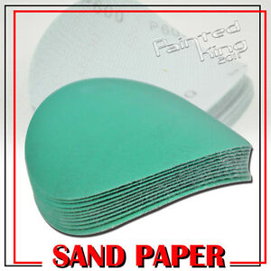In LA-x10 Dry Green Auto Sanding Paper Collision Repair Sanding Disc 600 Grit 5