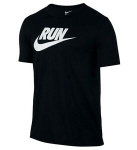 OFFICIAL Nike RUN SWOOSH DRI-FIT Athletic Cut Black 2XL T-Shirt BNWT 806891 $35