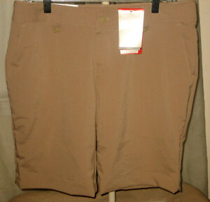 Under Armour Size 10 Medium Women's Golf Shorts Khaki Womens MD MED Ladies NEW+*