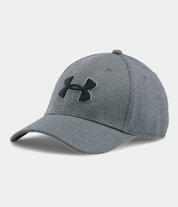 Under Armour Men's UA Heather Blitzing II Stretch Fit Cap Flex Hat ML LXL
