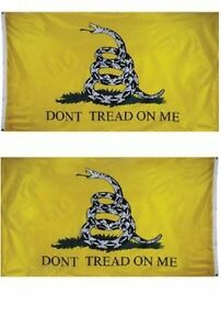 3x5 Gadsden Don't Tread on Me 2 Faced Double Sided 2-ply Flag #2 Gift Set #2