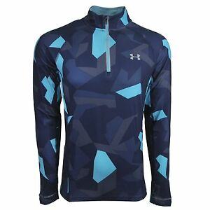 Under Armour Men's Launch Printed 14 Zip LS Top Pacific XL