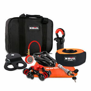X-BULL Recovery Winch Accessory Kit Snatch Pulley Block Bow Shackles Shovel