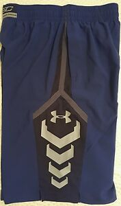 Mens UNDER ARMOUR FITTED BASKETBALL SHORTS SC STEPH CURRY DRY BLUE SZ S RET$45