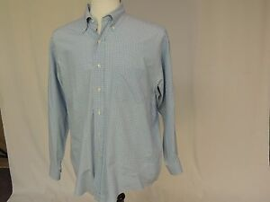 Brooks Brothers Sport Blue checked shirt size M