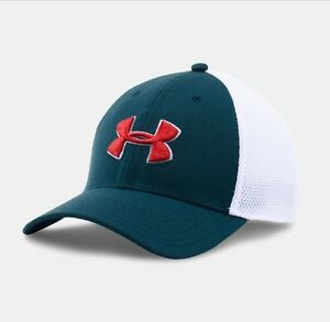 Mens Under Armour (NVTWHTRED) UA Golf Mesh STR 2.0 Cap