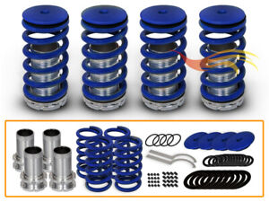 BLUE Front Rear Lower Adjustable Coilover Springs For 98-02 Accord/97-01 Prelude