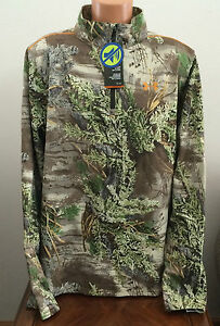 * Under Armour Mens 2XL All Season RealTree Camouflage 14 Zip Shirt Windbreaker