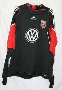 RARE Adidas DC UNITED Soccer TRAINING FORMOTION Sweat Shirt Jersey Top Men 2XL