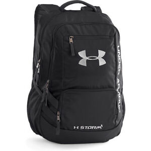 Under Armour Storm Hustle Ii Mens Rucksack - Black Silver One Size