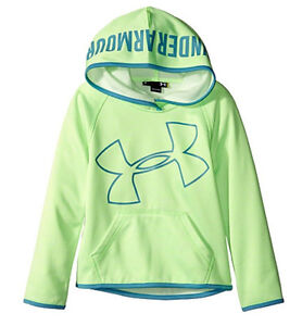 Under Armour Girls Novelty Jumbo Big Logo Hoodie SIZE 4 5 6 6X NEW Sweatshirt