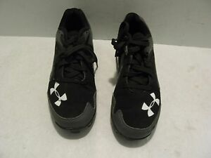 Boys Youth UNDER ARMOUR Low Baseball Cleats Shoes  Size 1 Y