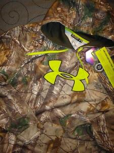 UNDER ARMOUR HUNT REAL TREE  XTRA  CAMO HOODIE SIZE 2XL MEN NWT $89.99