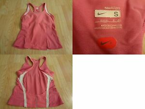 Women's Nike Fit Dry S(46) Tank Top Workout Shirt Pink & White