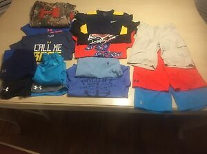 Under Armour Polo Nike Columbia Boys (Lot of 15}Shirts heatgear Size S Youth