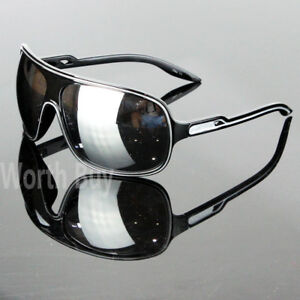 New 80s Mens Women Wrap Around Sunglasses Large Retro Vintage Designer Fashion