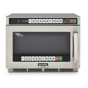 SHARP RCD1200M Stainless Steel Commercial Professional Microwave Oven 0.75 cu.