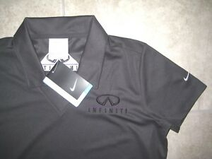 NEW Nike Dri Fit Golf INFINITI MOTORS CARS Gray Womens Polo Knit Shirt NWT SMALL
